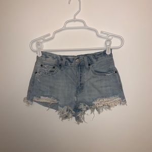 Free People We The Free Daisy Chain Shorts